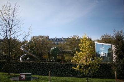 Paris - Les Halles - jardin Ouest - vue sur l'aire de jeu - Photo MS Bock-Digne pour Mes Ailleurs - 10 avril 2016
