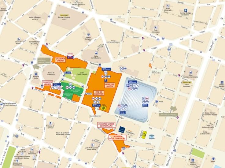 Plan du quartier - Paris - Les Halles