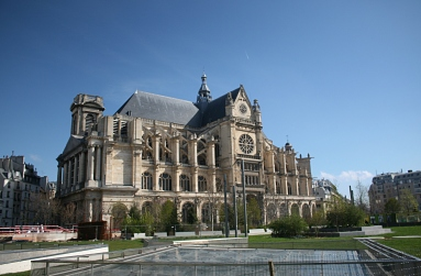 Paris - Les Halles - jardin Ouest - vue sur Saint-Eustache - Photo MS Bock-Digne pour Mes Ailleurs - 10 avril 2016